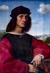 Raphaël, Portrait d'Agnolo Doni, 1504-1505, Galerie Palatina à Florence Italie
