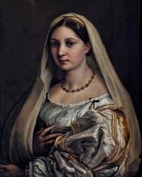Raphaël, Portrait de femme au voile, 1518, Galerie Palatina Pitti, Florence Italie