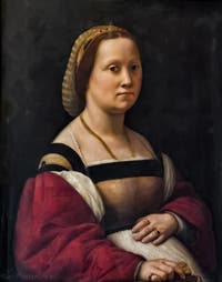 Raphaël, Portrait de femme enceinte, 1508, Galerie Pitti Palatina, Florence Italie