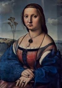 Raphaël, Portrait de Maddalena Strozzi Doni, 1504-1505, galerie Palatina Pitti, Florence Italie