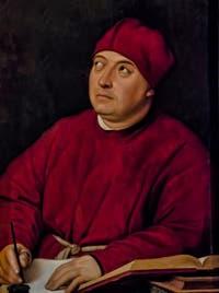 Raphaël, Tommaso Inghirami dit Fedra, 1510, galerie Palatina Pitti, Florence Italie