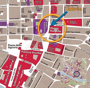 Plan de Situation Musée du Bargello Florence Italie
