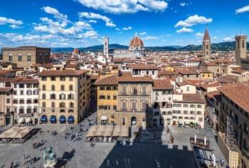 La Piazza della Signoria à Florence en Italie