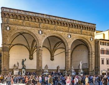 La Loggia della Signoria, loggia dei Lanzi, 1376-1382 à Florence en Italie