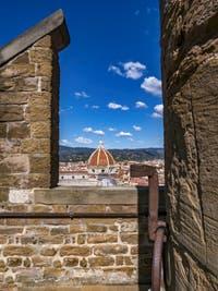 Le dôme du Duomo vu depuis la tour Arnolfo du Palazzo Vecchio à Florence