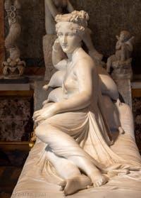 Antonio Canova, Pauline Bonaparte Vénus Victorieuse, Vénus Victrix à la Galerie Borghèse à Rome