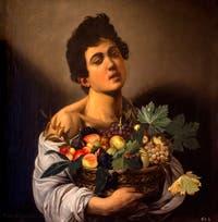 Le Caravage, Jeune Garçon portant une corbeille de fruits à la Galerie Borghèse à Rome