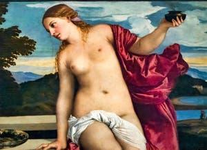Le Titien, détail de l'Amour Sacré à la galerie Borghèse à Rome