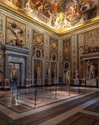 Le Salon d'entrée de la Galerie Borghèse à Rome