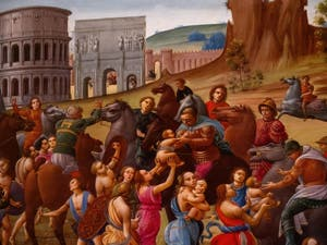 Bartolomeo di Giovanni, La Paix entre les Romains et les Sabins à la Galerie Colonna à Rome