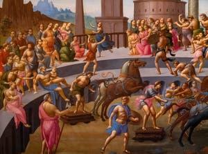 Bartolomeo di Giovanni, le Rapt des Sabines à la Galerie Colonna à Rome
