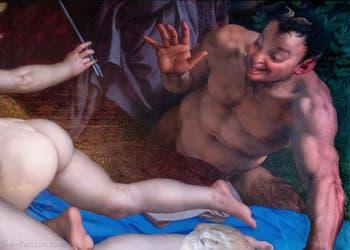 Agnolo Bronzino, Vénus, Cupidon et Satyre à la Galerie Colonna à Rome