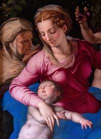 Agnolo Bronzino, Vierge à l'Enfant Endormi avec Saint-Anne et Saint Jean-Baptiste à la Galerie Colonna à Rome