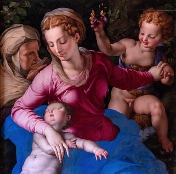 Agnolo Bronzino, Vierge à l'Enfant Endormi avec sainte Anne et saint Jean-Baptiste à la Galerie Colonna à Rome