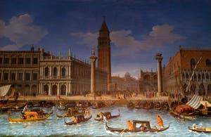 Caspar Van Wittel, La Piazzetta de Venise vue depuis le Bassin de Saint-Marc, Galerie Colonna à Rome