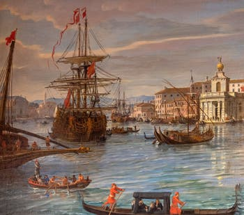 Caspar Van Wittel, Venise vue depuis le bassin de Saint-Marc en direction de Santa Maria della Salute, Galerie Colonna à Rome