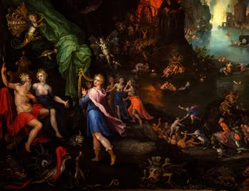 Jan Brueghel l'Ancien, Orphée, Pluton et Proserpine aux Enfers à la Galerie Colonna à Rome