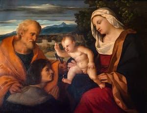 Palma le Vieux, Vierge à l'Enfant, Saint-Pierre et Donateur à la Galerie Colonna à Rome