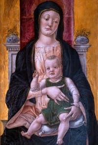 Bartolomeo Vivarini, Vierge en Trône avec l'Enfant bénissant, galerie Colonna à Rome