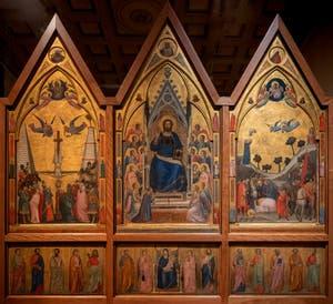 Giotto di Bondone, verso du Triptyque Stefaneschi, à la Pinacothèque du Musée du Vatican à Rome