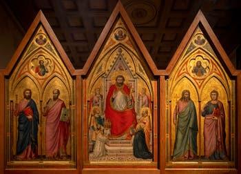 Giotto di Bondone, recto du Triptyque Stefaneschi, à la Pinacothèque du Musée du Vatican à Rome