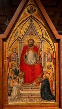 Giotto di Bondone, recto du Triptyque Stefaneschi, saint Pierre en trône, à la Pinacothèque du Musée du Vatican à Rome