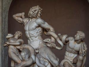 Le Groupe du Laocoon et ses fils au Musée Pio Clementino du Vatican à Rome