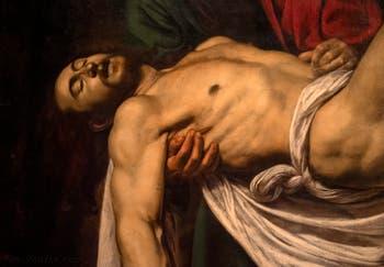 Le Caravage, Mise au Tombeau ou la Déposition du Christ, au musée du Vatican à Rome
