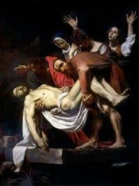 Le Caravage, Déposition, à la Pinacothèque des Musées du Vatican à Rome