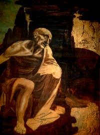 Léonard de Vinci, saint Jérôme, au musée du Vatican à Rome