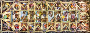 Les fresques du plafond de la chapelle Sixtine par Michel-Ange au Vatican à Rome