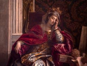 Paul Véronèse,détail de la Vision de sainte Hélène, à la pinacothèque du musée du Vatican à Rome