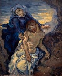 Vincent Van Gogh, Pietà, au musée d'art contemporain du Vatican à Rome