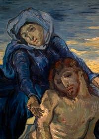 Vincent Van Gogh, détail de la Pietà, au musée d'art contemporain du Vatican à Rome