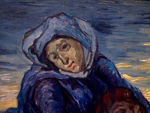 Vincent Van Gogh, détail de la Vierge dans la Pietà, au musée d'art contemporain du Vatican à Rome