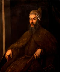 Le Tintoret, Portrait du Doge Alvise Mocenigo à la galerie de l'Accademia à Venise.
