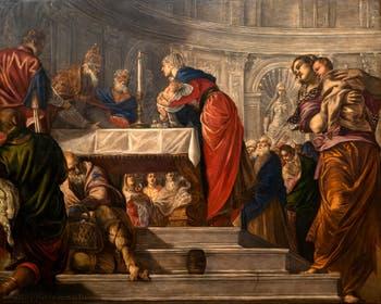 Le Tintoret, la Présentation de Jésus au Temple à la galerie de l'Accademia à Venise