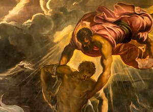 Le Tintoret, saint Marc sauve un Sarasin du naufrage, à la galerie de l'Accademia à Venise.
