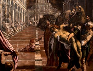 Le Tintoret, La Translation du Corps de saint Marc, à la galerie de l'Accademia à Venise.