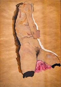 Egon Schiele, Torse Nu, Galerie Internationale d'Art Moderne Ca' Pesaro à Venise Italie