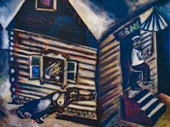 Marc Chagall, La Pluie, au musée Peggy Guggenheim à Venise.