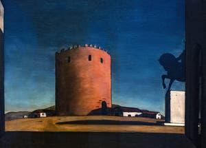 Giorgio de Chirico, La Tour Rouge, au musée Peggy Guggenheim à Venise