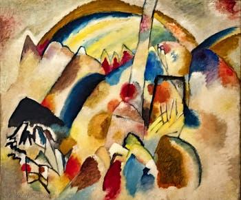 Vassily Kandinsky, Paysage avec des Taches Rouges N°2, au musée Peggy Guggenheim à Venise