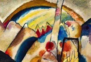 Wassily Kandinsky, Paysage avec des Taches Rouges N°2, au musée Peggy Guggenheim à Venise