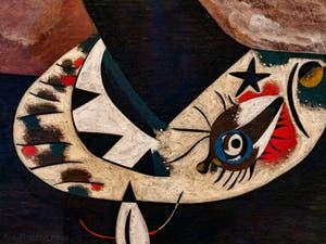 Joan Miró, Femme Assise II, au musée Peggy Guggenheim à Venise