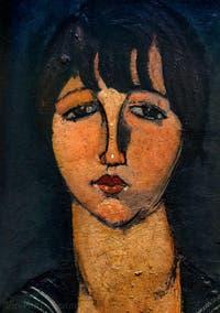 Amedeo Modigliani, La Femme en Blouse Marine ou Marinière, au Musée Peggy Guggenheim à Venise