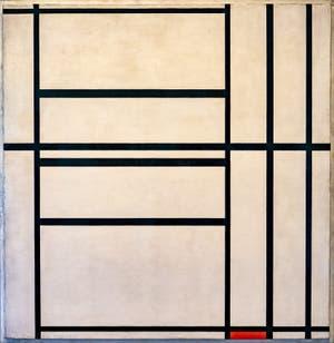 Piet Mondrian, Composition N°1 avec Gris et Rouge, au musée Peggy Guggenheim à Venise