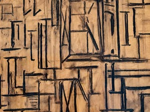 Piet Mondrian, Étude pour un Tableau III, au musée Peggy Guggenheim à Venise