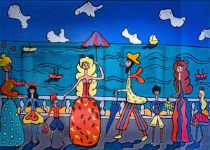 Pegeen Vail Guggenheim, Au Bord de la Mer, au musée Peggy Guggenheim à Venise