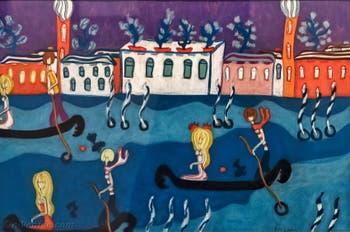 Pegeen Vail Guggenheim, Palazzo Venier Grand Canal, au musée Peggy Guggenheim à Venise